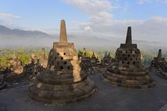 Borobudur, Indonesia - The Borobudur Temple (GlobeTrotter 2000) Tags: world travel heritage tourism indonesia temple java asia buddha buddhist buddhism visit unesco yogyakarta borobudur