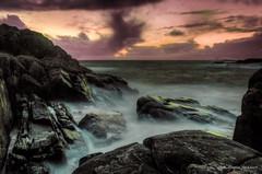 Calm after the storm (huddart_martin) Tags: longexposure sunset sea storm norway clouds norge waves westcoast hdr sotra algrøy