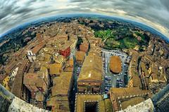 Planet Siena (Arutemu) Tags: city italien italy canon landscape europe italia cityscape view zoom eu sigma medieval fisheye tuscany siena toscana tamron renaissance 15mm ville 6d 28300 torredelmangia      tamron28300   eos6d   sigma15