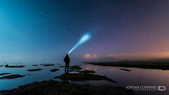52-52 (Jordan Cummins Photography) Tags: ireland light sea sky cloud moon selfportrait lightpainting reflection night stars nikon nightscape nightime d750 sligo nothernlights selfie headtorch jcphoto18