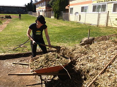 Outgrowing Hunger Community Garden_Shoveling