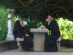 faith (vasso giannaki) Tags: old tree bench worship seat faith prayer pray grace nun read blessing elderly devotion priest orison