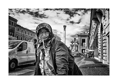 Welcome to Vatican (Jan Dobrovsky) Tags: street portrait people bw vatican rome contrast grain document fujifilm