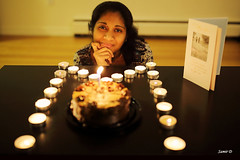 Maitree's birthday (Samir D) Tags: house canada home night vancouver 35mm canon eos eyes candle nightshot wife northamerica 5d vans candlelight appartment 2016 markiii nightimage maitree 35mm14 21stapril samird