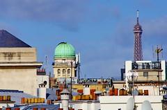 Paris Avril 2016 - 167 les toits dans le Vime arrondissement, l'Observatoire et la Tour Eiffel (paspog) Tags: paris france spring roofs toureiffel april avril printemps toits 2016 decken toitsdeparis frling oservatoire