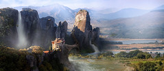 Puentes y Cascadas - Matte Painting (Agustin C. Barranco) Tags: photoshop mattepainting photoshopcreativo