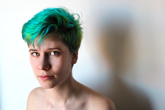 IMG_27232 (Addierrow) Tags: green girl portait androgyny androgynous greenhair