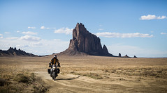 Ridin The High Seas (Pierce Martin) Tags: newmexico landscape outdoors scenery outdoor adventure moto bmw motorcycle shiprock motorcycletouring dirtbiking advrider adventuretouring f800gs
