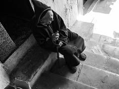 Walking by (insider-fototour) Tags: street bw man strasse oldman morocco medina sw marokko fes altermann