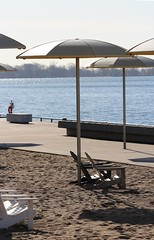 Just waiting on summer... (jmaxtours) Tags: beach sand beachlife lakeontario umbrellas torontoharbour muskokachairs hto htobeach justwaitingonsummer