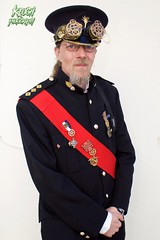 IMG_9122 (Neil Keogh Photography) Tags: red white black male hat beard gold glasses uniform pants buttons military watch gothic goth goggles victorian band jacket medals steampunk whitbygothweekend watchcogs april2016