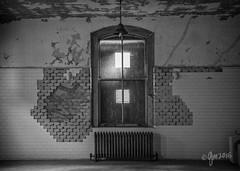 Hive Symmetry (gmckel50) Tags: urban building window hospital tile pattern interior room urbanexploration radiator urbex abandonedhospital