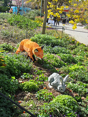 fox ready to pounce (Bolt of Blue) Tags: lego palosverdes southcoastbotanicgarden seankenney natureconnects