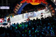 Red Bull Crashed Ice Challenge (HelBen85) Tags: travel light red rot ice night canon munich mnchen kurt crashed stadium mambo sigma bull cameron olympia 5d tele myriam challenge 70300 2016 markiii trepanier naasz