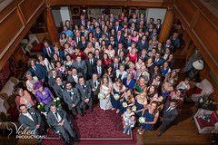 The big group photo! Kat and Oli's wedding day - photography and videography by Veiled Productions - wedding photography and videography Cambridgeshire