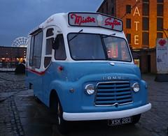 Anyone For Ice Cream? - Liverpool (Ermintrude73) Tags: urban liverpool transport icecream vehicle albertdock icecreamtruck icecreamvan commer mistersoftee mrsoftee usk283