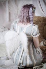 Winter Ghost (gloomth) Tags: floral vintage purple antique pastel ghost lavender eerie pale haunting ghostly alternative altmodel