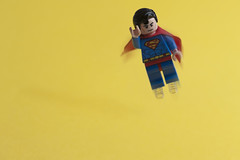 Faster Than A Speeding... erm? (abnormally average) Tags: toy toys photography dc lego alien flight superman springs hero superhero minifig childish poot justmessin abnormallyaverage pootar