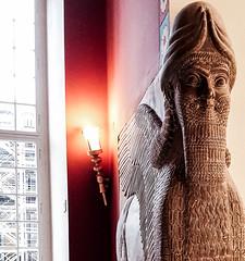 Lamassu -   (canaanite98) Tags: berlin history museum deutschland iraq civilization mythology nineveh lamassu assyria irak sumerian akkadian ebla germanz assyrians shedu