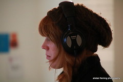 13-IMG_9921 Goma Candid (marinbiker 1961) Tags: people woman man studio glasgow goma redhead headphones bags redhair beeny menwomen glasgow2016 bwcandid colourcandid