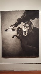 """""""The Revolution Will Not Be Televised""""  Todd Francis art at Fecal Face gallery S.F. California 2016    kAPpY !!! (K a P p Y) Tags: sf art revolution 2016 acab fecalface kappy toddfrancis laterdudes kappyscorner"""
