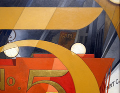 Demuth, I Saw the Figure 5 in Gold (detail), 1928
