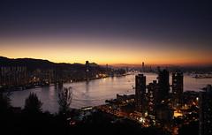 End of Goat's Year~ (edward.cheung) Tags: sunset nightview  magichour vantagepoint victoriaharbor   yautong  pautoishan devilpeak devilspeakpautoishan
