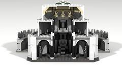 Minas Tirith 09 (Anduin1710) Tags: city white men king minas lego lotr return tolkien middleearth jrr tirith the thelordoftherings ldd gondor digitaldesigner