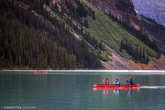 Canoeing on Lake Louise (Samantha Decker) Tags: canada flickr ab alberta rockymountains lakelouise banffnationalpark parkscanada canadianrockies canonef24105mmf4lisusm canoneos6d samanthadecker