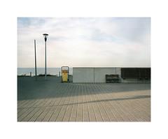 boulevard (ha*voc) Tags: urban 120 film beach mediumformat rangefinder expired zandvoort 80mm urbanfragments bloemendaalaanzee mamiya7ii urbanabstraction fujinhgii800
