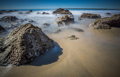 Little Corona Del Mar into the sea 2-1 (gearupbaby!) Tags: ocean longexposure beach sand rocks sony wideangle newportbeach 12mm coronadelmar bight samyang a6000 ilce6000