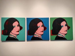 Portrait of Marion Bloch by Andy Warhol, 1975 (Thad Zajdowicz) Tags: cameraphone color art mobile museum painting fineart cellphone indoor canvas kansascity turbo missouri motorola andywarhol android droid silkscreened kempermuseumofcontemporaryart zajdowicz marionbloch