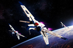 Coruscant Orbital Patrol (Sydag) Tags: starwars ship lego background space contest scifi arctiidae edit evolved moc starfighter fbtb arc170 spacefighter arc209