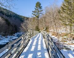 Bridge Cobb Brook  6035-36.jpg (rayclark1) Tags: bridge panorama usa snow water weather river photography us vermont place structure jamaica vt