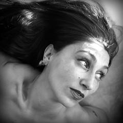 020216 (roberke) Tags: portrait blackandwhite bw woman monochrome female hair blackwhite eyes naturallight indoor lips mature ogen portret vrouw femina haar lippen daglicht