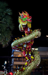 Huahin Thailand - FEB6,2016:The show of chinese Golden Dragon Celebrate Chinese New Year night scene at Market village mall huahin on 6 feburary,2016 (leykladay) Tags: life china new red sculpture holiday detail art sign yellow festival festive asian thailand golden spring ancient asia tour dragon power head folk background object traditional faith year chinese decoration performance culture tourist parade east celebration exotic fantasy tradition oriental custom celebrate symbolic wealth