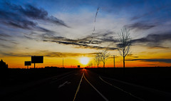 Into The Sun... (CB-Photos) Tags: street sky art clouds sony oneway intothesun a77 theway skycolor ourplanet goldenplanet dtssm1650