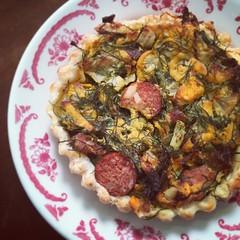 Chorizo tart (moirabot) Tags: food vegan sausage auckland tart parnellfarmersmarket thevegandeli