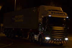 Stobart H2478 PO65 VDG Kay Poppy at Widnes 5/2/16 (CraigPatrick24) Tags: road truck cab transport container lorry delivery vehicle trailer scania logistics widnes stobart eddiestobart skeletaltrailer stobartgroup scaniar450 kaypoppy h2478 po65vdg