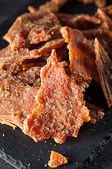 Healthy Dry Turkey Jerky (brent.hofacker) Tags: pink red food white turkey pepper healthy breast pieces herbs cut beef chewy spice salt tasty dry meat delicious poultry snack dried diet edible processed sodium herb coated tender seasoning protein textured jerky nutrition tenders seasoned spiced dehydrated turkeyjerky jerkey