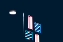 neon lights 2 (czechouttheczech) Tags: blue light red lamp colors night photography lights streetlight neon neonlights