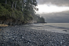 Mystic Beach (JsonConnelly) Tags: ocean canada beach coast waterfall bc britishcolumbia vancouverisland shore portrenfrew mysticbeach