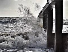 Splash... (daveayers17) Tags: sea waves westsussex stormy splash breakwater felpham