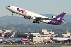FedEx MD-11F; N574FE@LAX;03.02.2016 (Aero Icarus) Tags: california plane aircraft lax fedex flugzeug takeoff avion freighter md11 trijet losangelesinternationalairport md11f n574fe