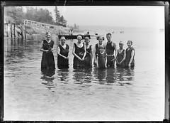 Family Swimming (gordon_morales) Tags: glass plate negative