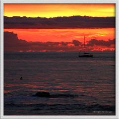 just another amazing sunset (Frank ) Tags: ocean sunset orange colors clouds sailboat swimming square spain europe sailing peace sundown riva surfing topf100 topf200 sunseeker 100faves 200faves amazingbeauty frnk canon7d