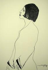 P1014722 (Gasheh) Tags: portrait art girl pen painting sketch drawing line figure 2016 dasheh