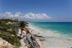 Tulum, Mexico - Iconic Temple (GlobeTrotter 2000) Tags: world travel sea heritage tourism beach mexico temple sand paradise maya yucatan tulum visit unesco mayan tropical caribbean castillo elcastillo