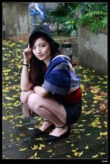 nEO_IMG_DP1U5689 (c0466art) Tags: light portrait white cold face rain female canon nose high nice eyes asia university pretty skin outdoor taiwan showgirl figure 1dx c0466art