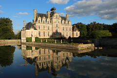 "Château de Beaumesnil (Catherine Reznitchenko) Tags: architecture architectural france beautiful normandie normandy europe beaumesnil paysage patrimoine pierre stone château castle water waterscape eau extérieurs extérieur outdoors eure reflections reflets sky sun soleil old ancien ancient nuages nature clouds green vert vegetation trees travel lumière light sunlight shadows ombres ombre building structure canon canonfrance country landscape moat calm river 27 architectureinpixels 100v10f schloss kasteel oldandbeautiful history ""flickrtravelaward"" castlespalacesmanorhousesstatelyhomescottages wow worldofarchitecture nice greatphotographers flickrdiamond historicbuildings oureurope"